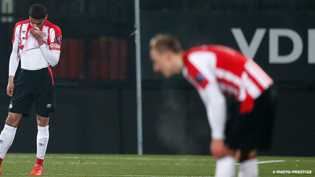 Jong PSV komt opnieuw tekort tegen Jong AZ
