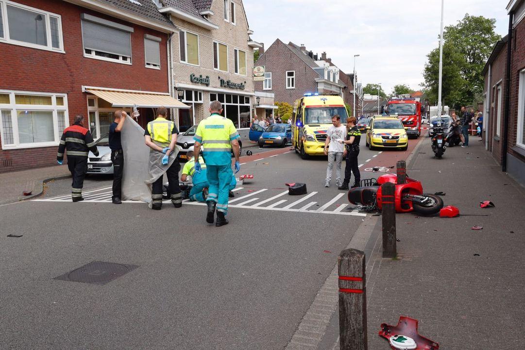 Motorrijder overlijdt na ongeval op Hoogstraat.